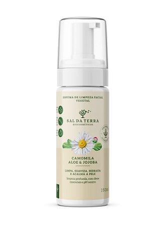 Espuma de Limpeza Facial Camomila, Aloe e Jojoba 150 mL