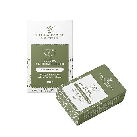 Kit Shampoo Sólido e Condicionador Sólido Jojoba, Alecrim e Cedro