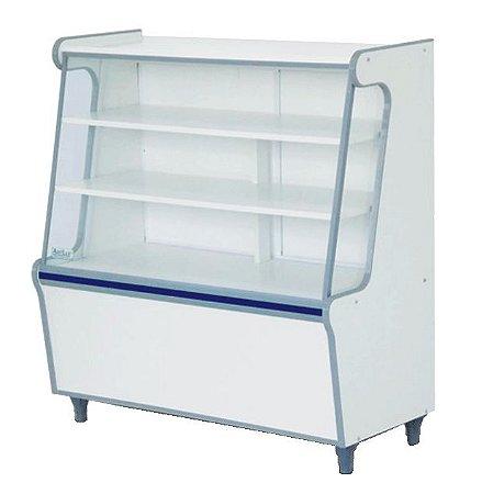 Balcão Seco Expositor de Produtos com Vidro Frontal 100cm - Artlux