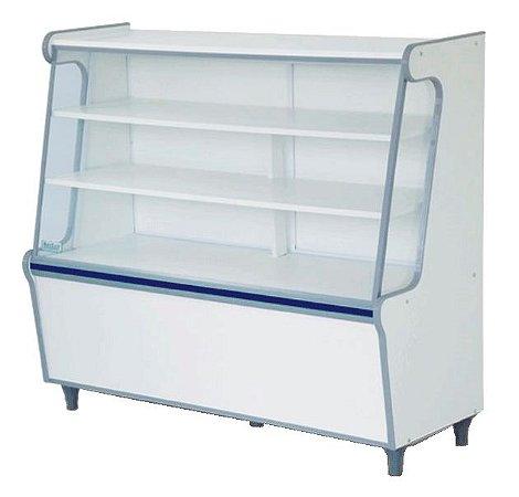 Balcão Seco Expositor de Produtos com Vidro Frontal 120cm - Artlux