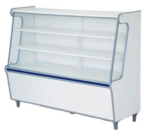 Balcão Seco Expositor de Produtos com Vidro Frontal 140cm - Artlux