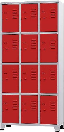 Roupeiro 12 Portas Pequenas Coloridas e Suporte para Cadeado-Amapá