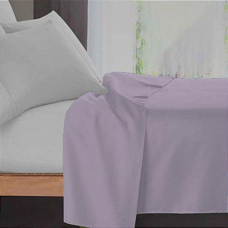Lençol Avulso Casal Premium 100% algodão Percal Lilas Estamparia