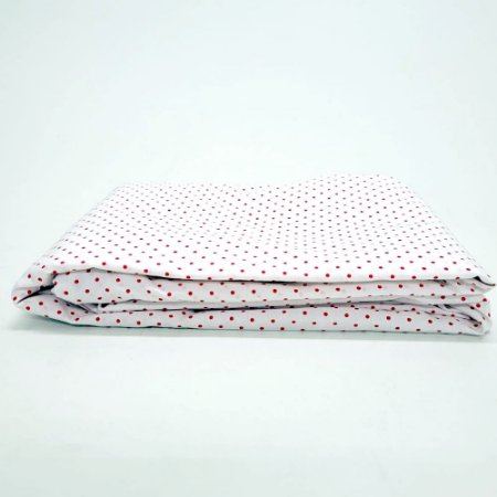 Capa para Colchão 190 x 90 x 30 cm Solteiro Com Zíper Bolinhas Branco e Vermelho Bellestar