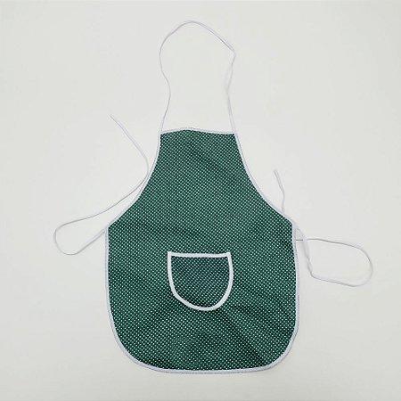 Avental Infantil Estampados Verde com Bolinhas Jovem Bordados