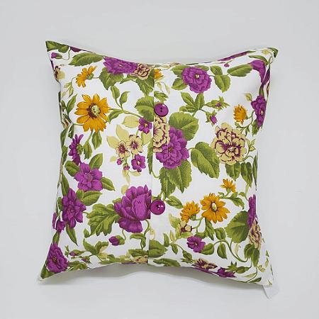 Capa para Almofada 60 x 60 cm Tecido Floral Bellestar