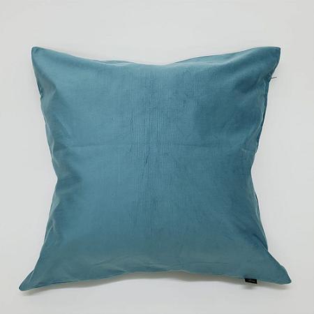 Capa para Almofada 60 x 60cm Veludo Azul Mistura Fina