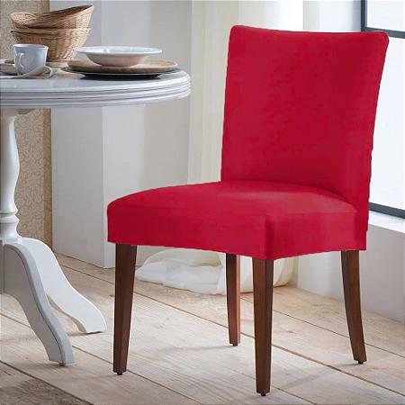 Capa para Cadeira Universal 100% Poliéster Vermelho Arte Cazza