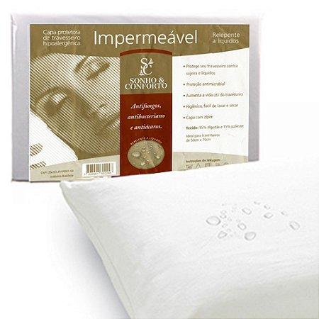 Capa Protetora de Travesseiro 50 x 70 cm Impermeável Sonho Conforto