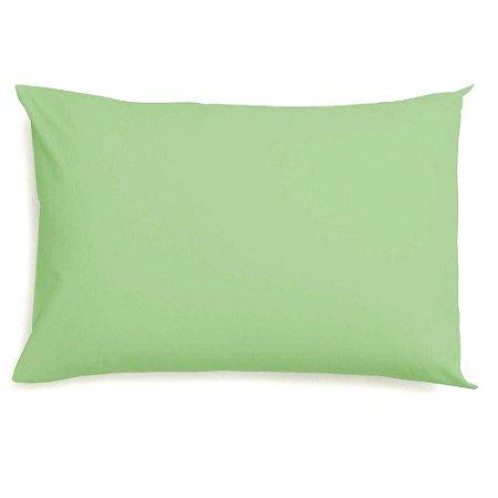 Fronha Avulsa 50 x 70 cm 100% Algodão Lisa Verde Camesa