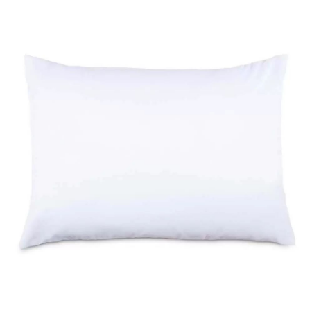 Fronha Avulsa 50 x 70 cm Premium 100% Algodão Percal 180 Fios Branca Estamparia