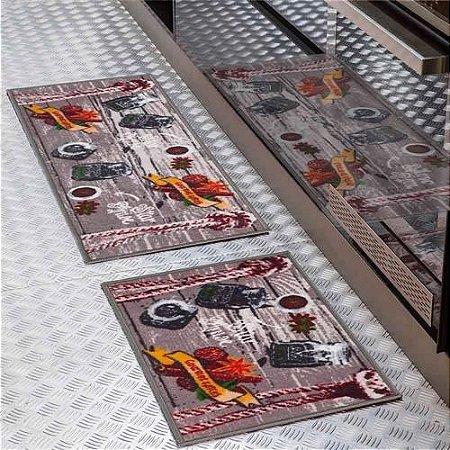 Jogo de tapetes Cozinha 2 peças Color Art Bistrô Gourmet Spices Corttex