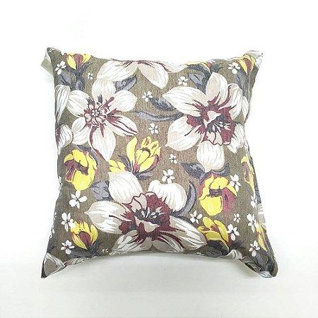 Kit Almofada Com Enchimento 45 x 45 cm Flores Pastel Bellestar