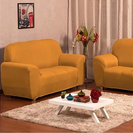 Kit Capa para Sofá com Elástico 2 e 3 Lugares Cereja Relex
