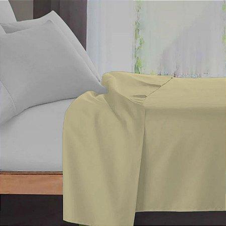 Lençol Avulso Queen Premium 100% algodão Percal Amarelo Estamparia