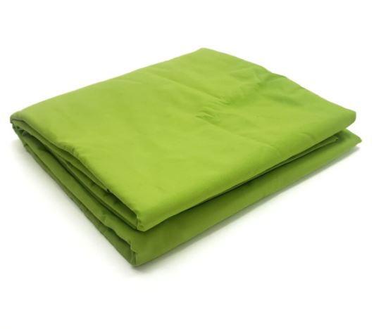 Lençol Avulso Solteiro 100% algodão Percal Verde Estamparia