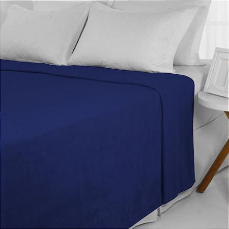 Manta De Microfibra 1,80 x 2,20 Casal Fleece Azul Andreza
