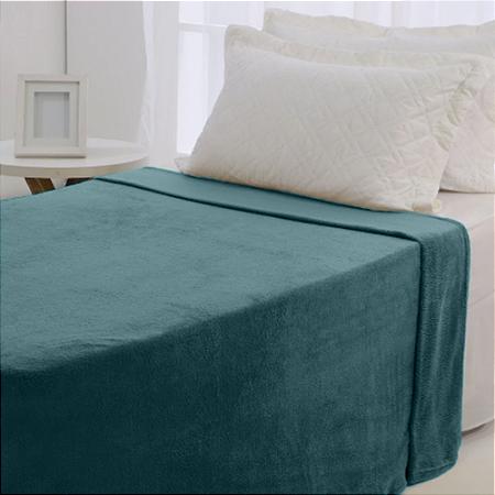 Manta Microfibra 1,50 x 2,00 Solteiro Fleece Rubi Andreza