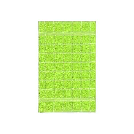 Pano de Copa 41 x 60 cm 100% algodão Felpudo Verde Santista