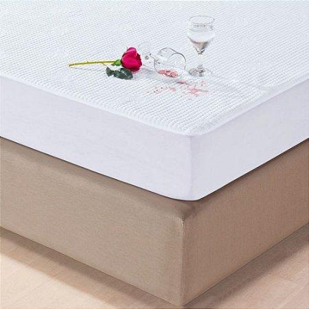 Protetor de Colchão Impermeável Casal Jacquard Branco Juma