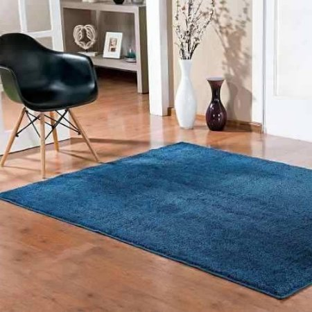 Tapete 1,50 x 2,00 m Apolo Azul Prata Têxtil