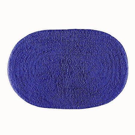 Tapete Banheiro 40 x 60 cm Attuale 100% Algodão Victória Azul Escuro Corttex