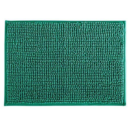 Tapete Banheiro 40x60cm Dallas Microfibra Turquesa