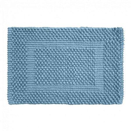 Tapete Banheiro 40 x 60 cm Soft 100% Algodão Azul Bebê Tamir