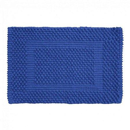 Tapete Banheiro 40 x 60 cm Soft 100% Algodão Azul Royal Tamir