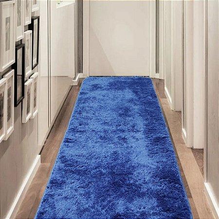Tapete Passadeira 0,50 x 1,50 m Apolo Azul Prata Têxtil