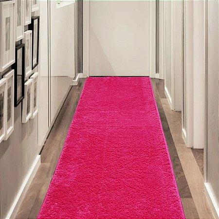 Tapete Passadeira 0,50 x 1,50 m Apolo Pink Prata Têxtil