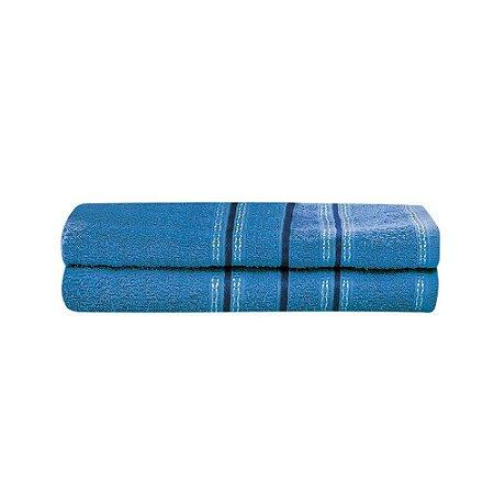 Toalha Banho 70 x 130 cm Diana 0446 Porcelana Azul Lufamar