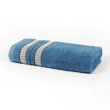Toalha Banho 70 x 135 cm Mike 100% Algodão Azul Santista