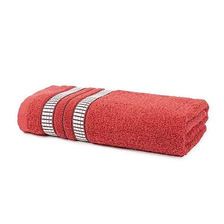 Toalha Banho 70 x 135 cm Mike 100% Algodão Vermelho Santista