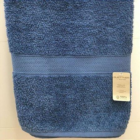 Toalha Banho 70 x 140 cm Natural 100% Algodão Buettner Azul Bouton