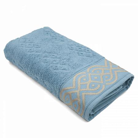 Toalha Banho 70 x 140 cm Tomy 100% Algodão Azul Ártico Boutton