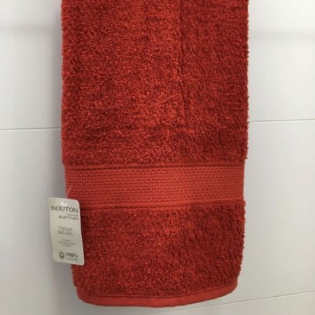 Toalha Banho 81 x 150 cm Natural 100% Algodão Buettner Vermelho Bouton