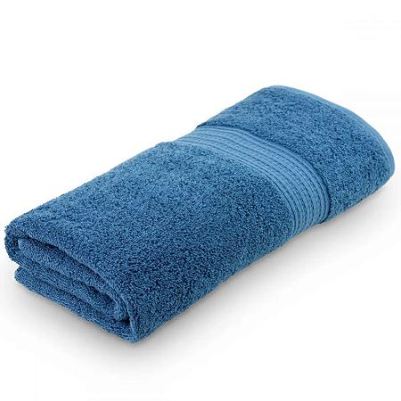 Toalha de Banho 70 x 140 cm 100% Algodão Dakota Azul Petroleo Boutton
