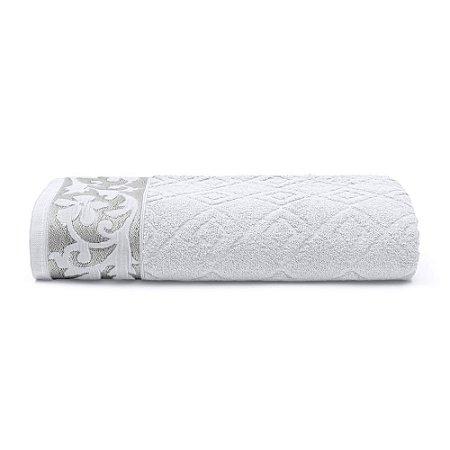 Toalha de Banho 70 x 140 cm Sofia 100% Algodão Buettner Branca Bouton