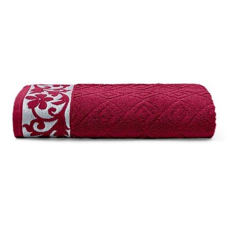 Toalha de Banho 70 x 140 cm Sofia 100% Algodão Buettner Vermelho Bouton