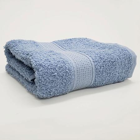 Toalha de Rosto 50 x 80 cm Natural 100% Algodão Buettner Azul Bouton