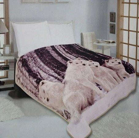 Cobertor Duplo Super Sofit Solteiro Lobos Realce Top Cmom Viés