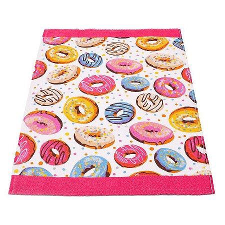 Pano de Prato Avulso Felpudo Teka Donuts