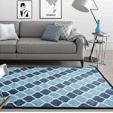 Tapete Granada Des 6A 3,00 x 4,00m Corttex Azul