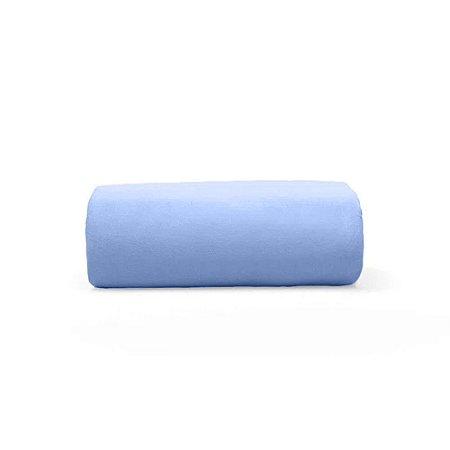 Lençol de Malha Solteiro Avulso com Eástico Azul
