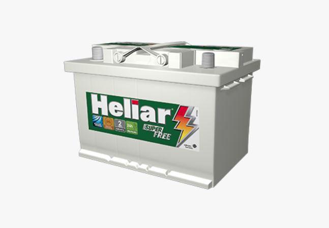 Bateria Carro 70amp Heliar Superfree Lado Direito Caixa Alta - Hf70nd
