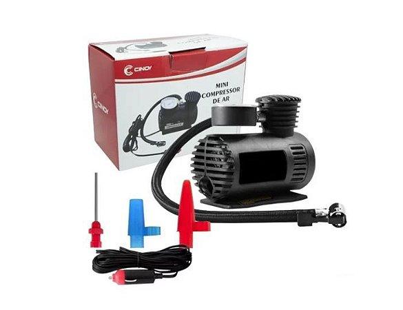 Minicompressor de Ar Automotivo Portátil 12v Cinoy - Ynar001