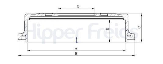 Par Tambor Freio Traseiro Hipper Freios Ford Ranger 4x2 1998 a 2011 (10 Polegadas) - Hf114b