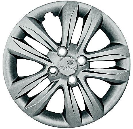 Jogo Calota Grid Aro 15 Hyundai Hb20/hb20s 16/ Prata - 192