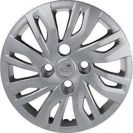 Jogo Calota Grid Aro 14 Ford Ka+ 19/ Prata - 344cb